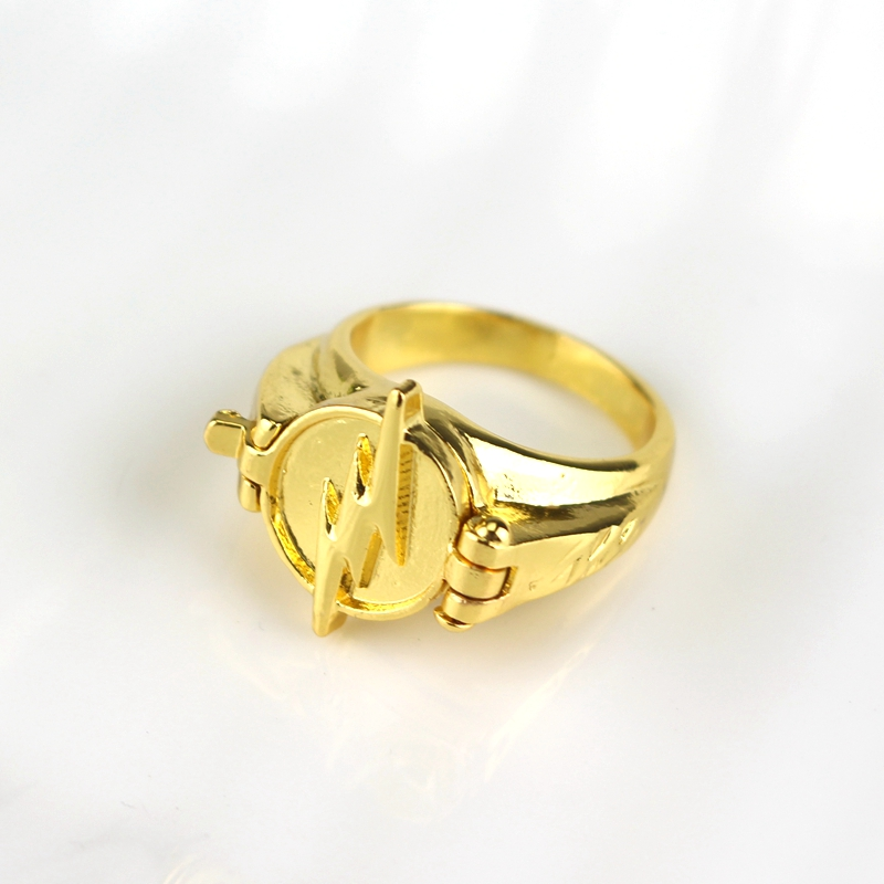 Newest Jewelry Superhero The Flash Ring Can Open Cover