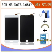 QYQYJOY AAA Quality LCD Frame For MEIZU M3 Note L681H Lcd Display Screen Replacement For MEIZU