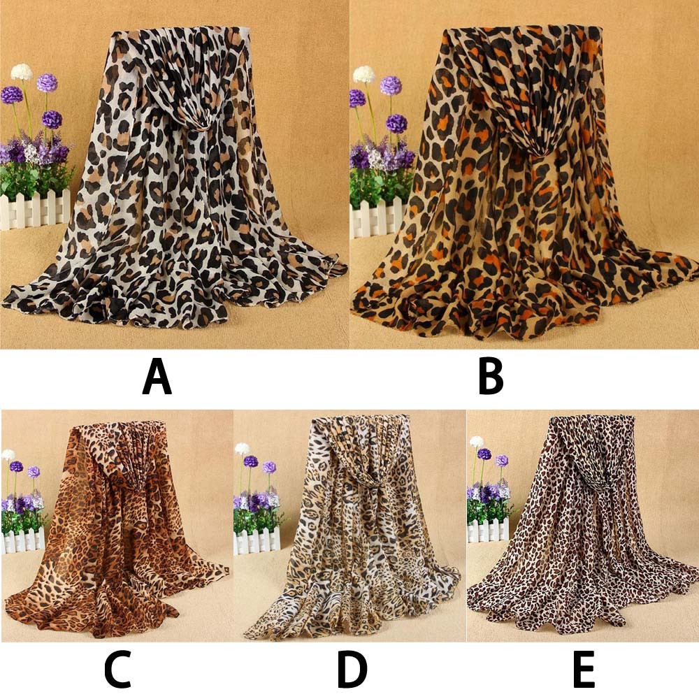 snowshine YLW  Women's New Classic Leopard Scarf Cotton And Linen Fashion Wild free shipping