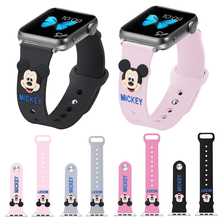 Cute Mickey bracelet apple watch 40mm Silicone Strap for band 44mm iwatch 38mm Serie 4 3 2 1 42mm accessory