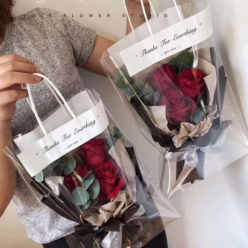 5ca89995a806 Detail Feedback Questions about Rose Flower Tote Bag Transparent ...