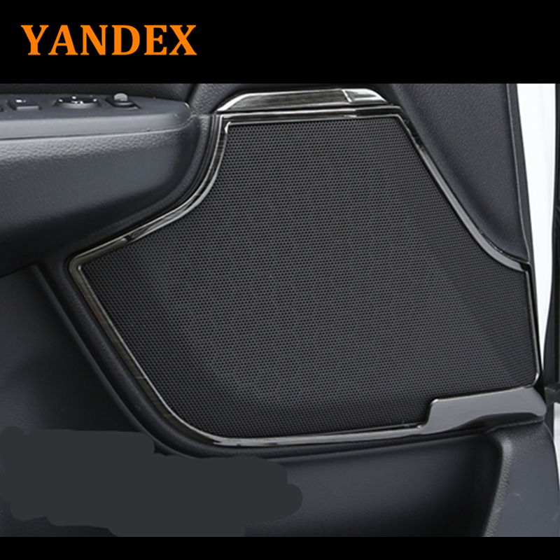 Yandex stainless steel decoration Door speaker sound ring 8pcs For Honda 2017 CRV CR-V Interior Decoration Stickers