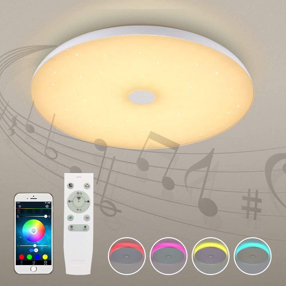 Светодиодный 36 Вт/48 Вт умный голосовой приложение светомузыкальный проектор затемненные потолочные светильники Потолочный с дистанционны... - 2