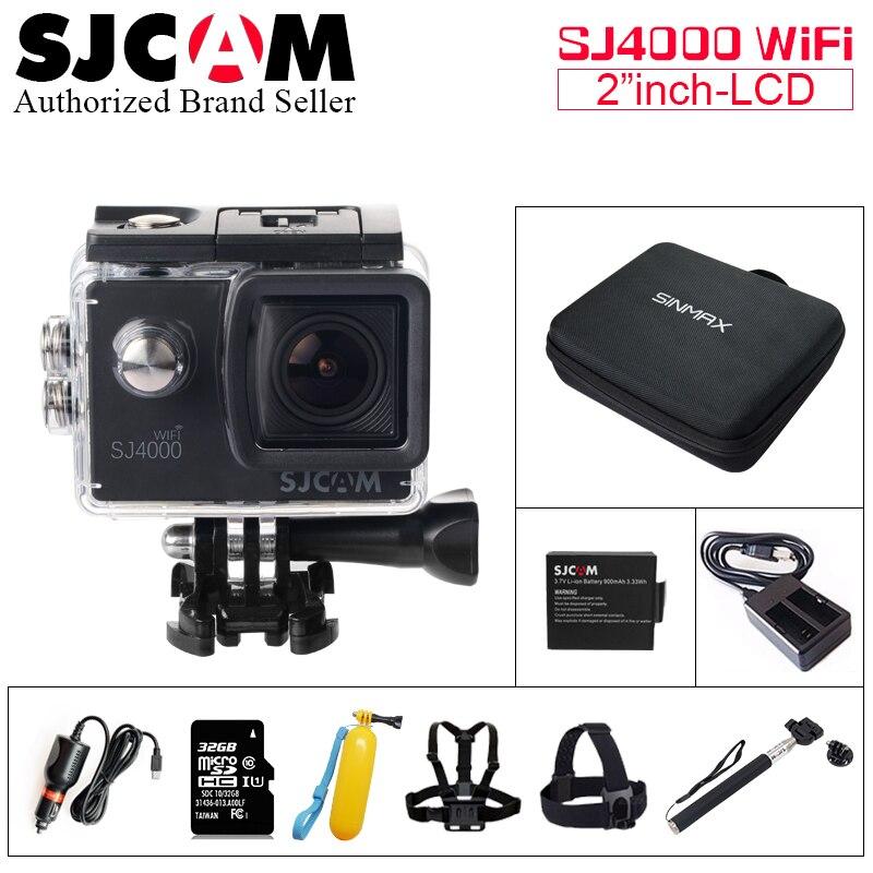 Original SJCAM SJ4000 wifi Sport Action Camera 2.0 inch HD 1080P 30M Waterproof DV Extreme Sports mini Camcorder SJ 4000 Cam original sjcam sj4000 series 1080p hd 2 0 sj4000 wifi action camera waterproof sports dv car registrar go extreme pro yi sj cam
