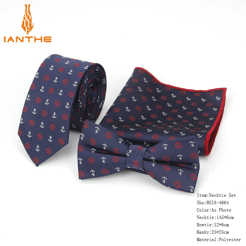 3pcs/lot Men's Vintage Cartoon Bike Animal Dog Slim Neck Tie Bowtie Hanky Sets Wedding Business Suits Butterfly Pocket Square
