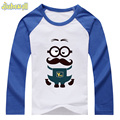 Kid Famous Cartoon Minions Printing T-shirt Girl Boys Cotton Long Sleeve Clothes Custom Section Baby Tee Tops 2017 Spring DCY020