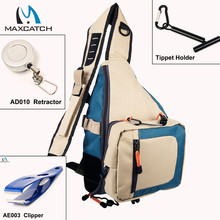 Maximumcatch Fly Fishing Sling Pack Fishing Backpack With Fishing Accessories Fsihing Tools combo