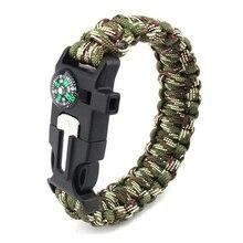 Braided Bracelet Men Paracord Survival Bracelet Outdoor Camping Rescue Emergency Rope Bracelets For Women