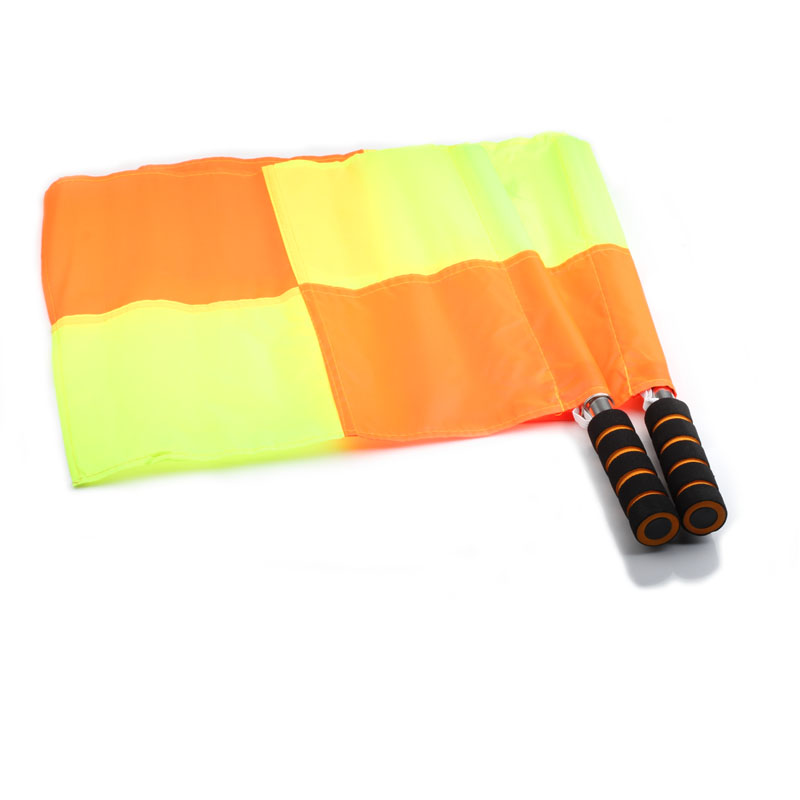 Soccer Referee Flags With Carrying Bag Football Judge Linesman Sideline Fair Play Sports Football Match Flags Referee Equipment