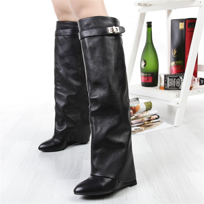 Online Get Cheap Thigh High Wedge Boots Buckle -Aliexpress.com ...