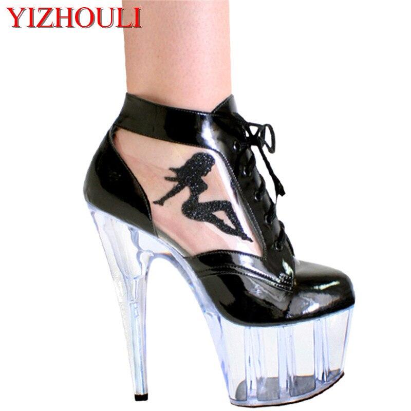 715bfe815 Plataforma À De AltoCasamentoFesta Preto Prova Super Água mulheres Atacado  SexyCristal Sapatos D' 15 Cm Salto LqSMVpjzUG
