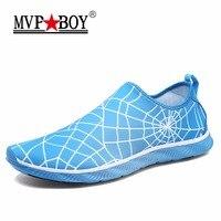 MVP CẬU BÉ Thương Hiệu Spiderman Phong Cách Đàn Ông Casual Giày Siêu Mềm Breathable Slip-On Giày Nam Mùa Hè Giày Nghi Rỗng Ra Giày người đàn ông