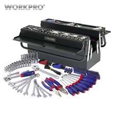 Tools - Tool Sets - WORKPRO 183PC Repair Tool Set Homeowner's Tool Kit With 5 Compartment Cantilever Screwdriver Ratchet Wrench Socket Plier