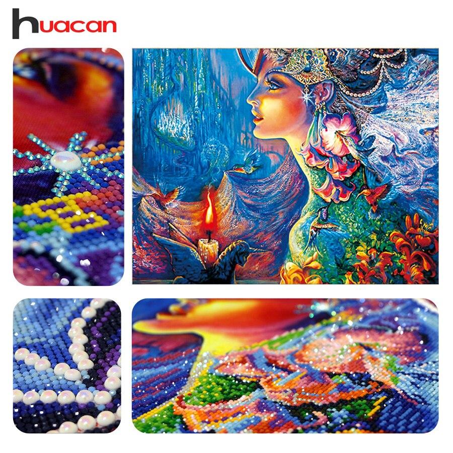 Huacan DIY Diamant Stickerei 5D Diamant Malerei Diamanten Mosaik Fantasie Spezielle Strass Kreuz Stich Nadel Weihnachten Geschenk