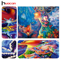 Huacan DIY Diamond Embroidery 5D Diamond Painting Diamonds Mosaic Fantasy Special Rhinestone Cross Stitch Needle Christmas