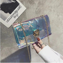 2018 New designs Clear Bag PVC Plastic Quilted Border Transparent Candy Summer Beach Bags Women Shoulder Luxury Brand Fashi
