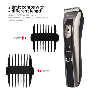 Image 4 - Whole Body Washable Electric Hair Clipper USB Rechargeable Hair Cutting Machine Kid Adult Hair Trimmer Battery Remaining Display