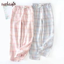 Fdfklak Couple's pajamas pant casual cotton home pants lounge wear slee