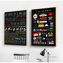 Friends TV Show Classic Quote Poster And Print Canvas Art Painting Wall Pictures For Living Room Decoration Home Decor Unframed