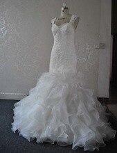 Vestido de Noiva 2016 Fashion Mermaid Wedding Dresses Custom Made Bridal Gown