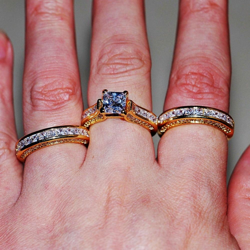 choucong Dropshipping Handmade Women Men Jewelry 3 in 1 Wedding ring ...