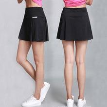 Плиссированная теннисная юбка для женщин и девочек; Защитные шорты; Mujer Skort; черные спортивные юбки-шорты; Студенческая юбка для бадминтона