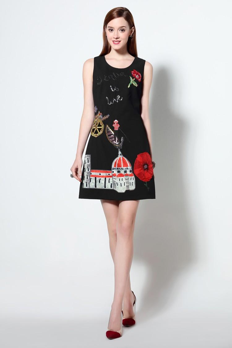 HTB1FKlNMXXXXXXoaXXXq6xXFXXX9 - 2016 г. женские хлопковое платье с вышивкой повседневные платья без рукавов короткое платье футляр черный белый цвет Вязание плюс размер xxl