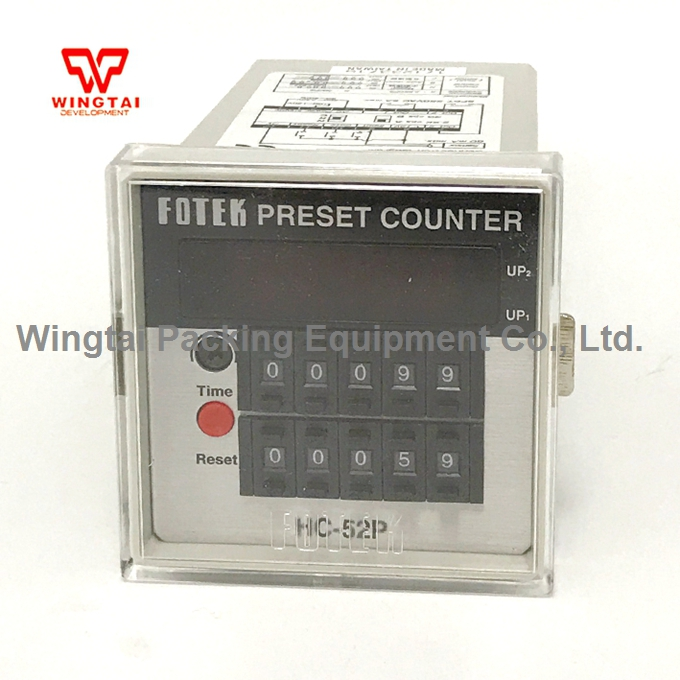 DIN 72*72 5 digit counter Taiwan Fotek Digital Dual Preset Counter HC-52P made in taiwan fotek tc72 dd r3 digital temperature controllers