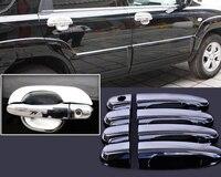New ABS Plastics Chrome Door Handle Cover Trim For KIA Sportage 2005 2006 2007 2008 2009