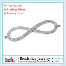 Beadsnice ID28351 widespread design pure 925 silver infinity connector charms wholesale manufacturing facility worth diy connectors for jewellery