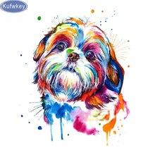 Shih Tzu dogWatercolor DIY 5D Diamond Painting Cross Stitch Embroidery rhinestones 3d picture mosaic diamond stickers