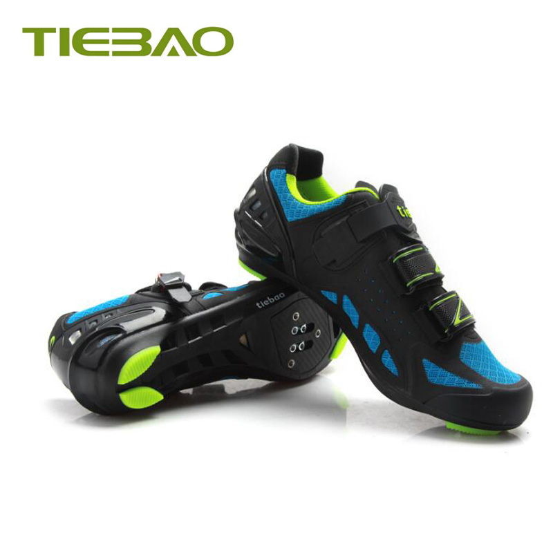 Купить с кэшбэком Tiebao road bike shoes sapatilha ciclismo bicycle SPD-SL pedals riding shoes self-locking superstar Racing cycling sneakers