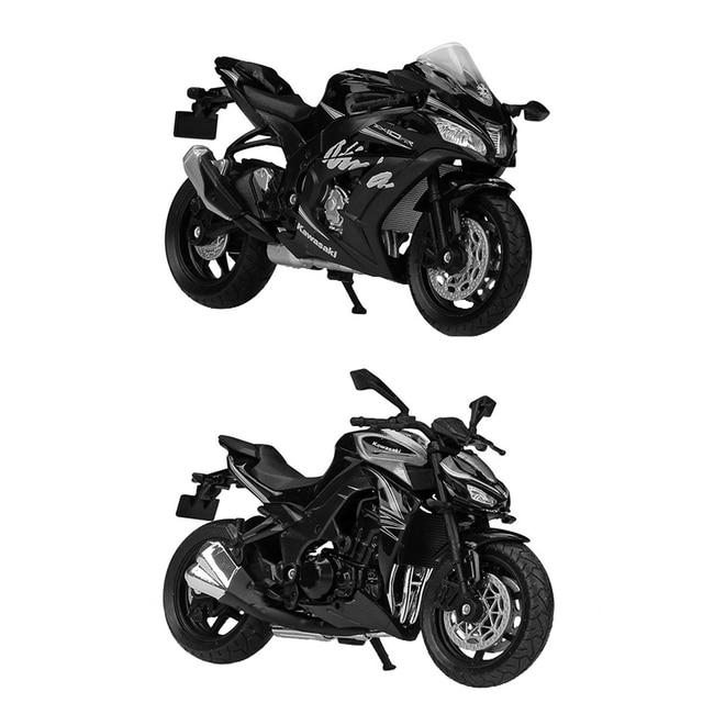 Welly 1:18 カワサキニンジャ ZX10 RR Z1000R 2017 オートバイ