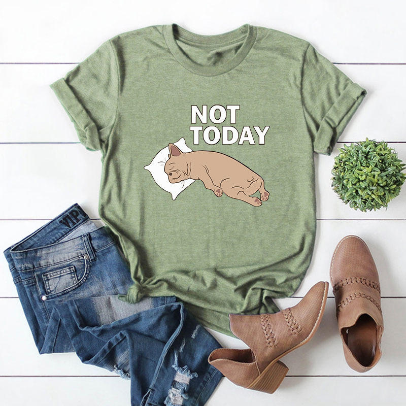 2019 Summer Game Of Thrones T shirt For Women Printed T shirt Funny Cute Dog NOT TODAY Short Sleeves O Neck Cool Tees Casual Top in T Shirts from Women 39 s Clothing