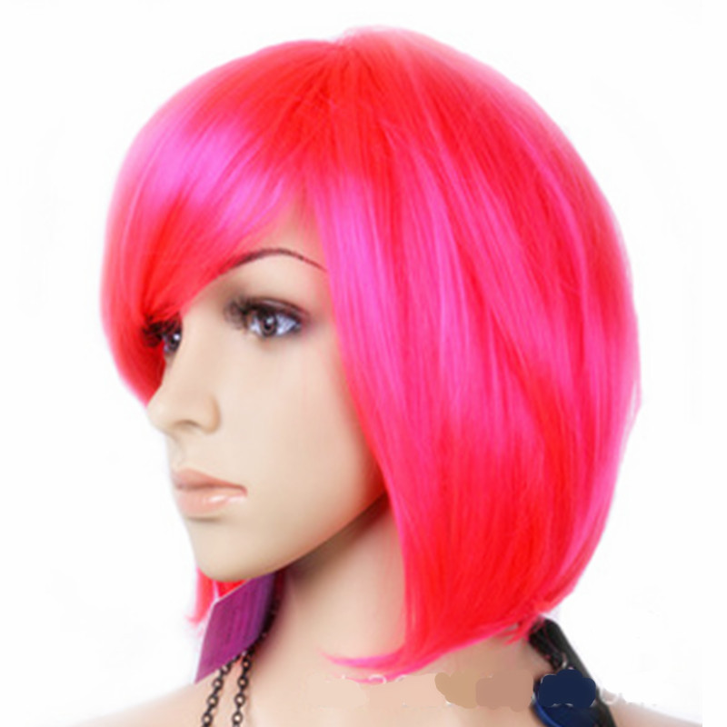 Synthetic lace Bob Cosplays Peluca headwear for Woman Girls Cosplaywigs Halloween Costumes Carnival Purim Nightclub party dress