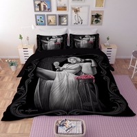 2018 3D Marilyn Monroe beddings set single Queen King size be sheet bed linen unique cotton duvet covert and classic movie star