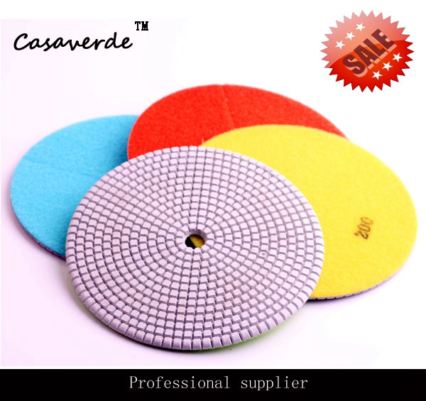 D180mm 7 inch polishing pads for stone and concrete 1pc white or green polishing paste wax polishing compounds for high lustre finishing on steels hard metals durale quality