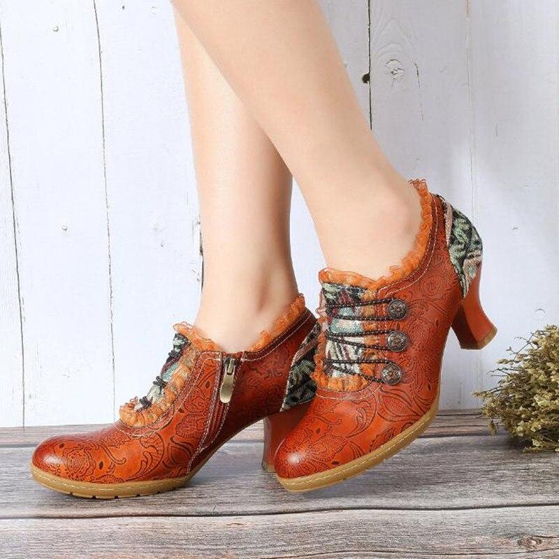 Printemps Princesse Talons brown Mode Obuv 41 Femmes Et Automne Chaussures 42 Plus Haute Pompes La Main À Taille Des Hauts En red Gray Relief wgtq5nOt