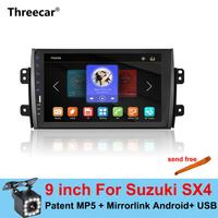 9'' 2din Car Radio Player for Suzuki SX4 2006 2016 Mirrorlink Android Bluetooth Car Multimedia MP5 Player 2DIN Stereo No Android