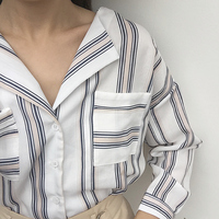 2017New Autumn Soft Women Blouse Long Sleeve Striped Blouse Casual Female Shirt Female LooseClothingYSJYG08