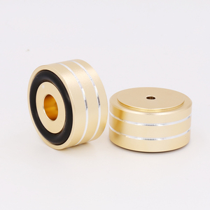 Image 2 - Gold Anodized Mini Solid Aluminum Feet Isolation Pad For DAC CD Turntable Radio AMP CNC Machined With non slip