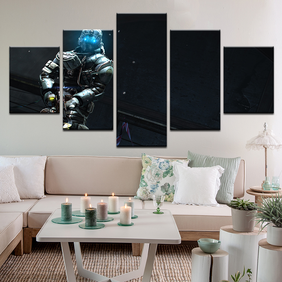 5 piece canvas painting wall art game dead space 3 hd - Ideas for dead space in living room ...