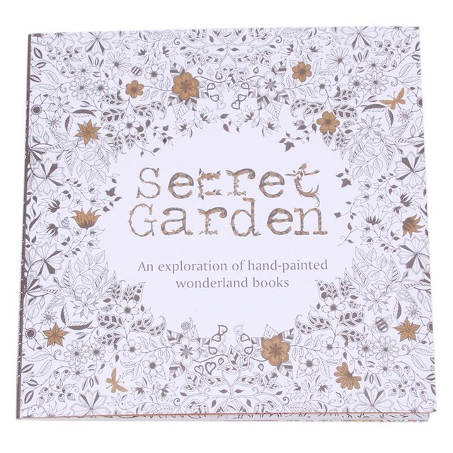 24 Pages Secret Garden English Version Decompression And