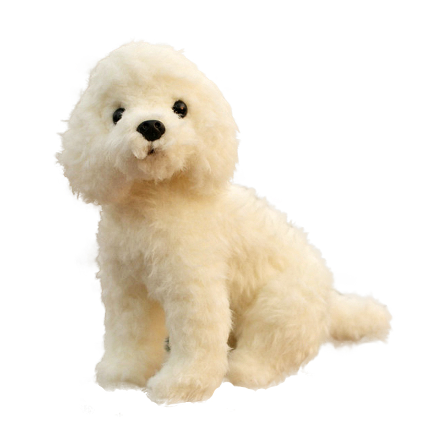 Bichon Frise Dog Plush Toy Small Soft Stuffed Animal Simulation Urso De Pelucia Puppy Doll Knuffels Toys For Children 70G0309 high quality resin bichon frise dog figure car styling home room decoration love poodle decorative article christmas gift toy