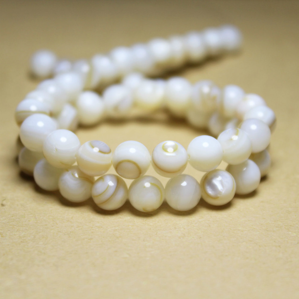 Stone Necklace Chinese-Shell-Beads Jewelry-Making Natural-Stripes Diy Bracelet Wholesale