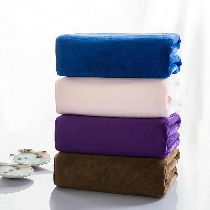 Wholesale Microfiber Bath Towels: Super Microfiber Bath Towel Size 70*140cm Solid Towel For
