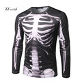 Stylish 3D Skull Print T-shirts Men's Cloting Long Sleeve t shirt Men Fitness tops & tees Shirt Homme,brand clothing