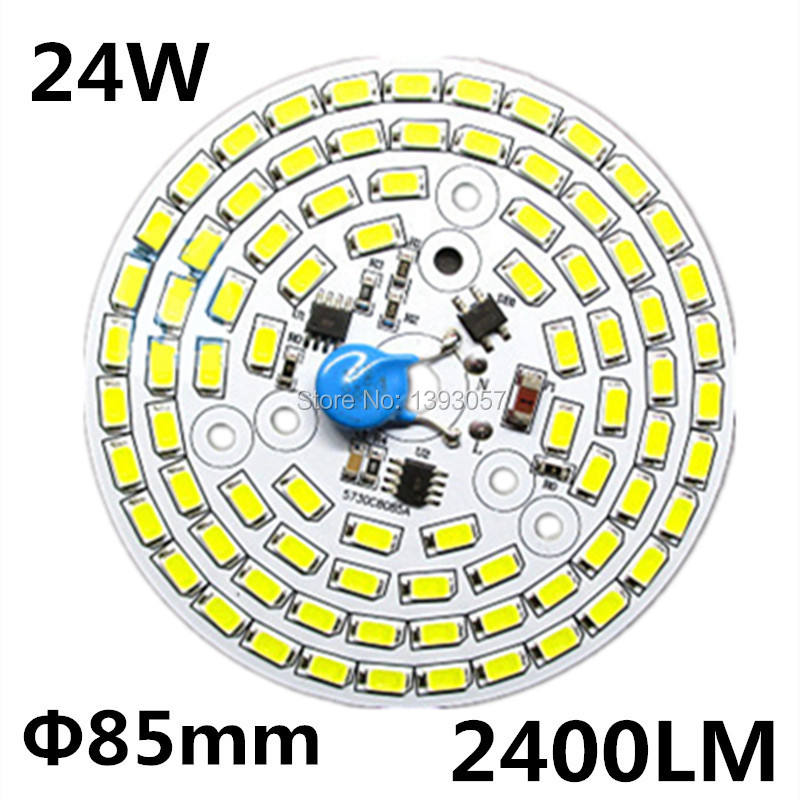 Free shipping 24W SMD 5730 5630 LED PCB with SMD5730 installed and IC driver . aluminum plate 20pcs 12w led light panel smd 5730 ic driver pcb input voltage ac110v 130v needn t driver aluminum plate free shippping
