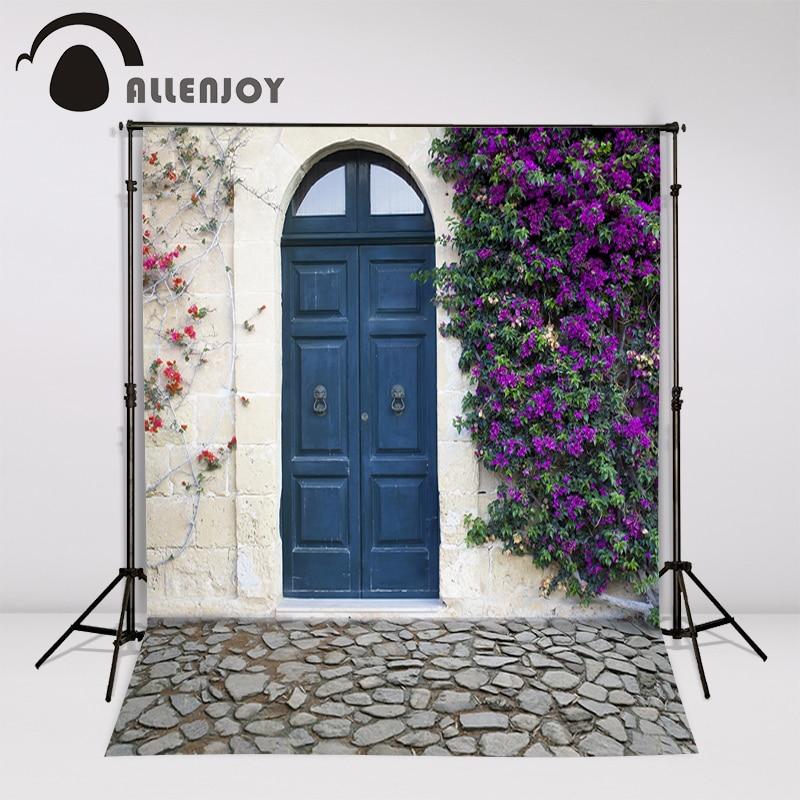 Allenjoy achtergrond mooie Photocall voor bruiloften dorp nobele deur - Camera en foto - Foto 2