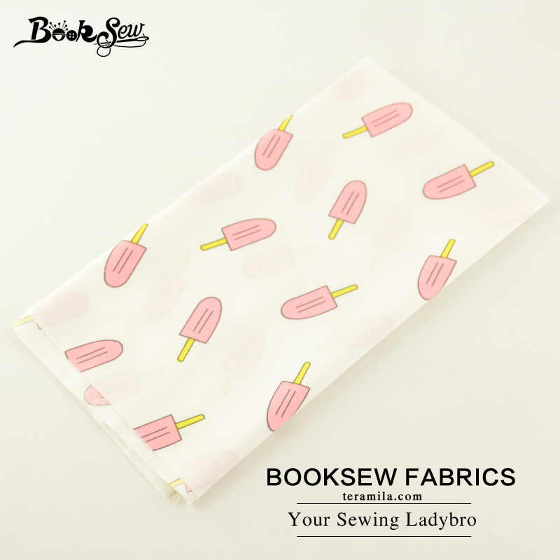 Booksew Home Textile Cotton Twill Fabric Pink Ice-cream Designs Soft Quilting Cloth Fat Quarter For Bed Sheet Baby Beding Doll